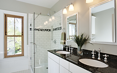 What is the easiest way to remodel  your bathroom?