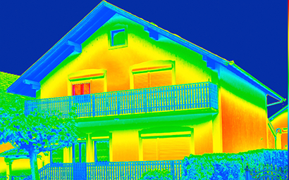 Using infrared technology to find leaks
