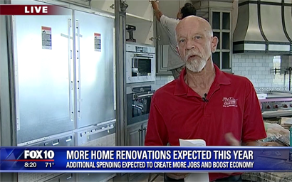 Steve Deubel on FOX 10 - Home Rennovation Project at Vistancia